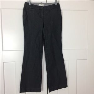 "Loft navy with white pinstripe ""Julie"" pants"